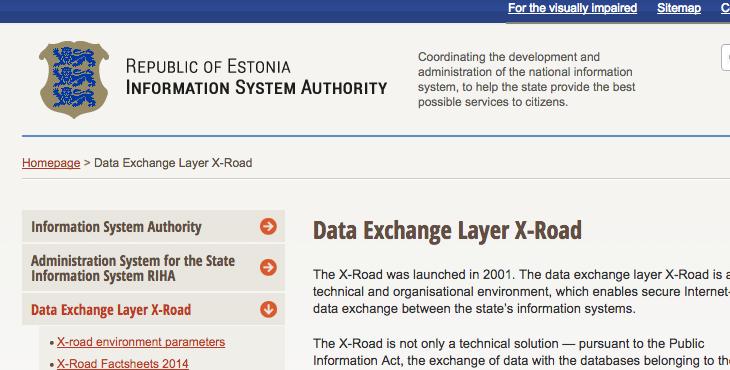 引用:Data Exchange Layer X-Road