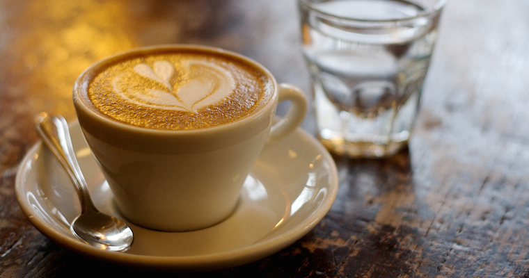 A cappuccino from Zoka Coffee up by the University of Washington in Seattle.