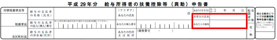 給与所得者の扶養控除等申請書