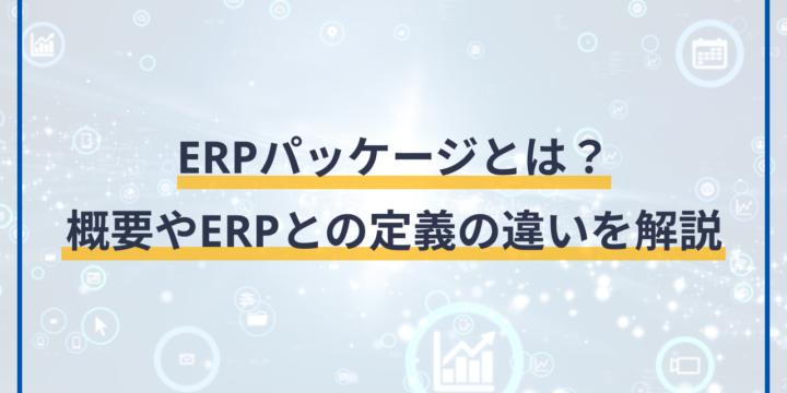 ERPパッケージとは?概要やERPとの定義の違いを解説