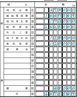 青色申告決算書17-32
