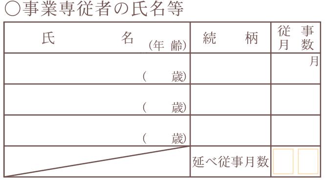 事業専従者の氏名等の記載方法 白色申告