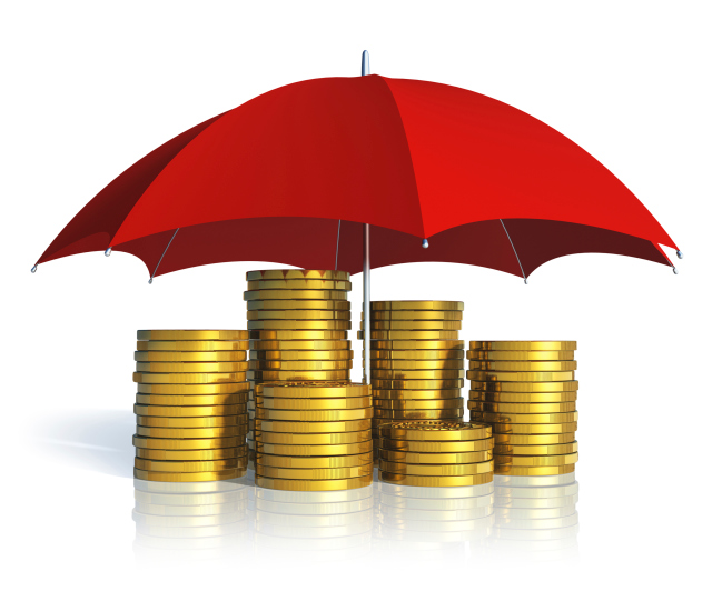 money is under the umbrella
